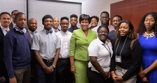 Mayor Bowser with DC Works